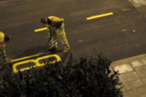 Відео дня: як лондонські робочі роблять дорожню розмітку за одну хвилину