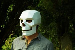 Геометричні паперові маски до Хеловіну