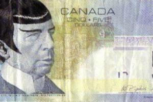 Канадці запустили флешмоб з розмальованими грошима на честь Спока
