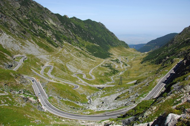 The Transfagarasan Pass Road, south of Sibiu