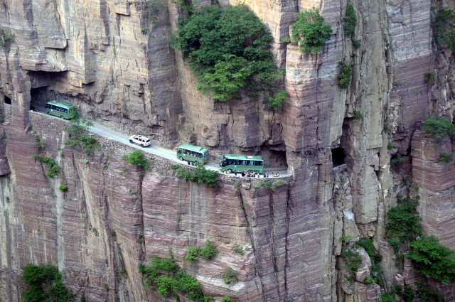 Guoliang Tunnel, China's scarist road carved into a mountain
