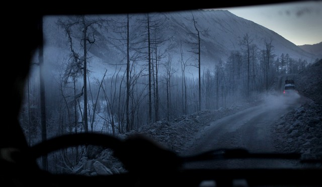 The road of Bones, on the way to Oymyakon