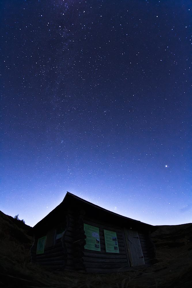 Екопункт на 1860м і зоряне небо
