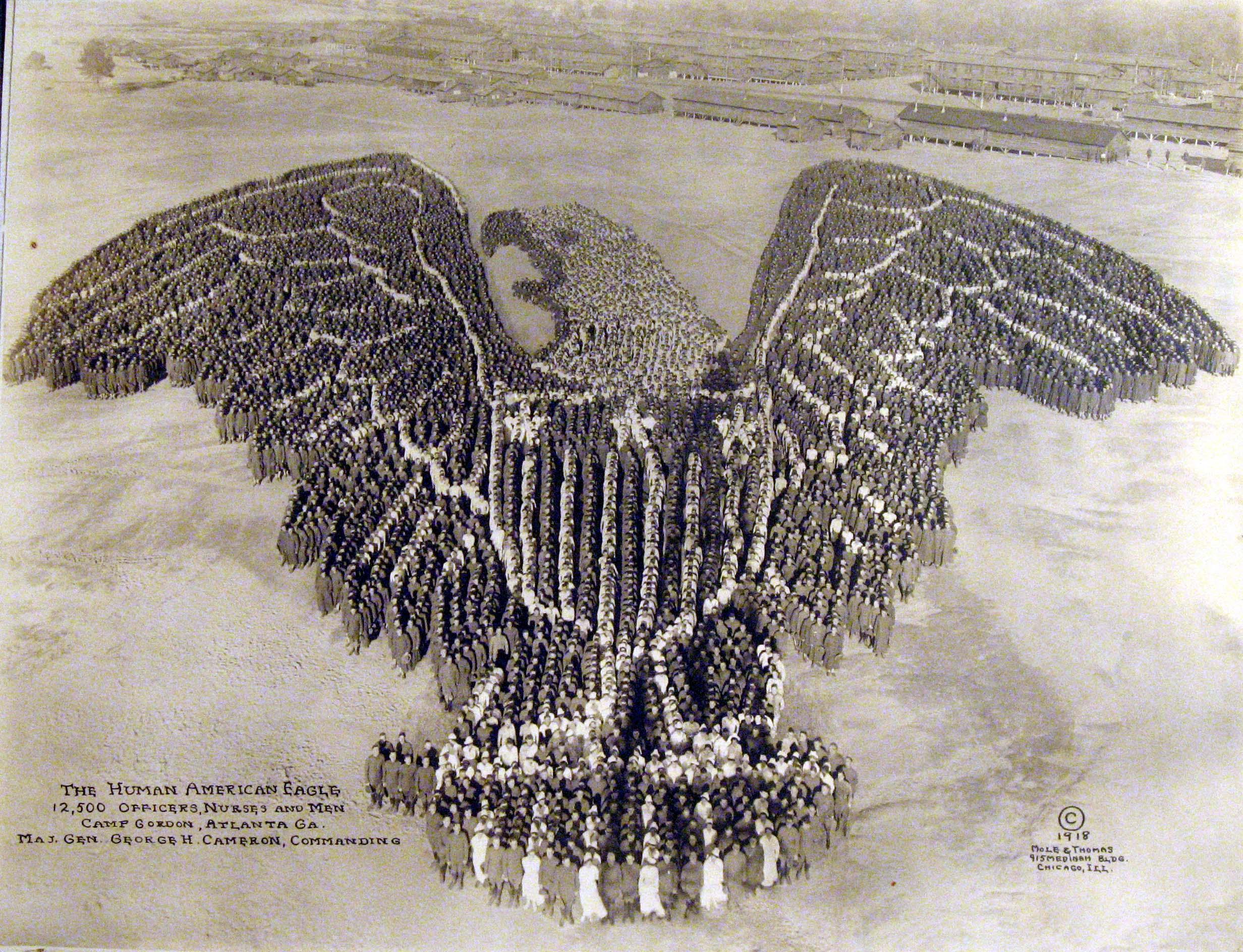 The Human American Eagle, 1918