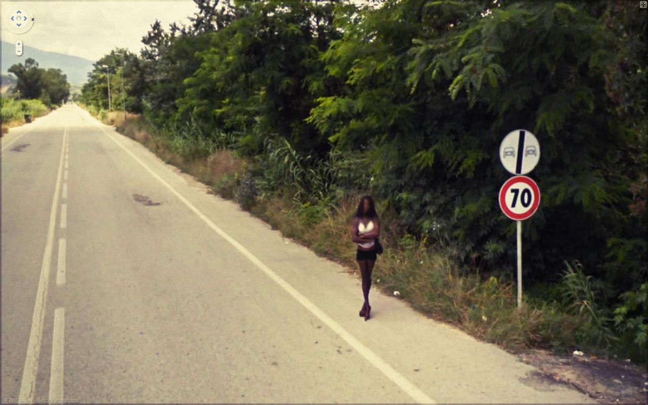 Незвичайні випадки на Google Street View