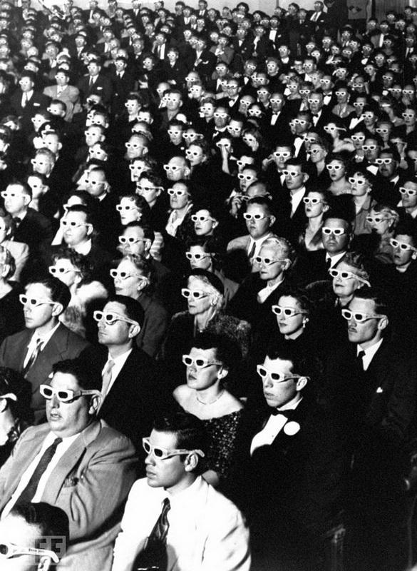 На перегляді першого повнометражного стереофільму J.R. Eyerman, 1952