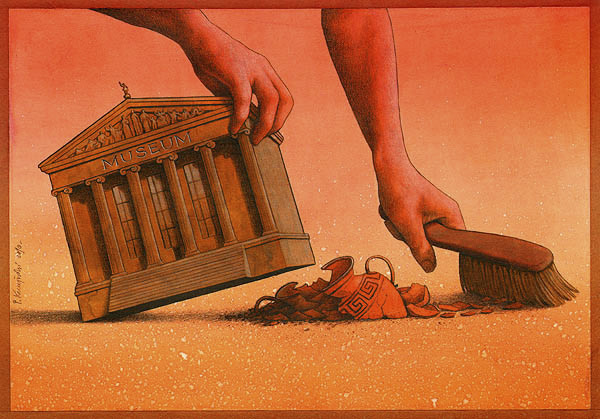 Сатиричні ілюстрації Павла Кущинського