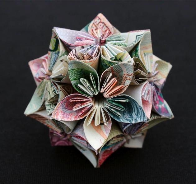 Геометричні орігамі з грошей