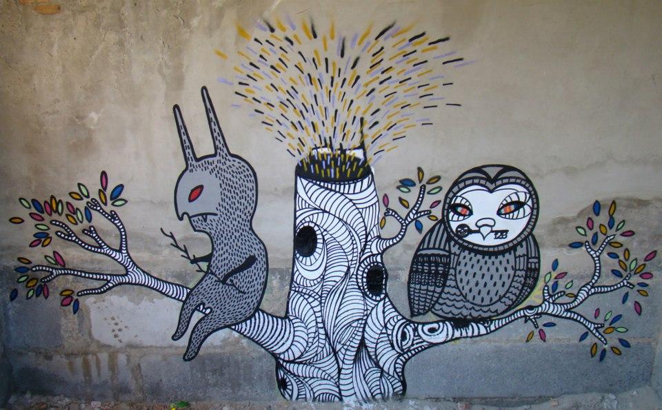 Street-art від львівського художника Андрія Хіра