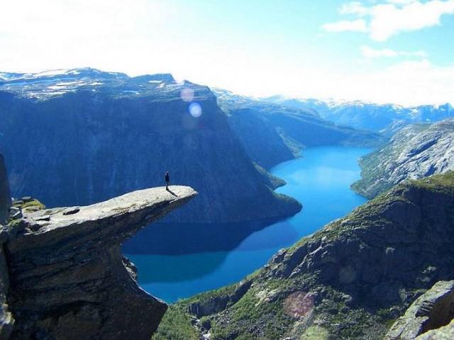 Язик троля - гора Skjeggedal в Норвегії