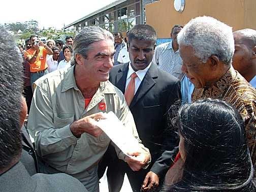 Жан зустрів Нельсона Манделу у Південній Африці