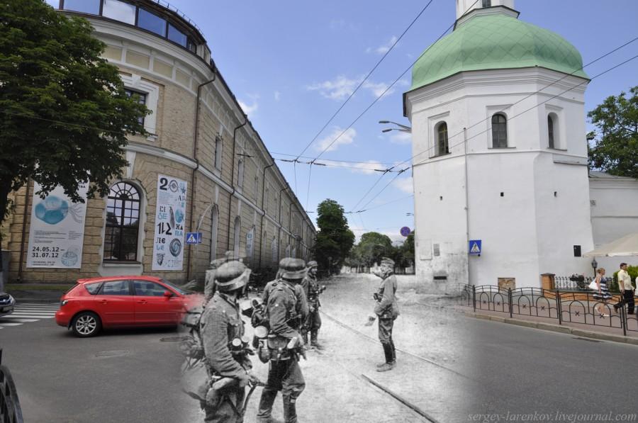 1941/2012. Вежа Івана Кущника, німецька піхота входить в місто