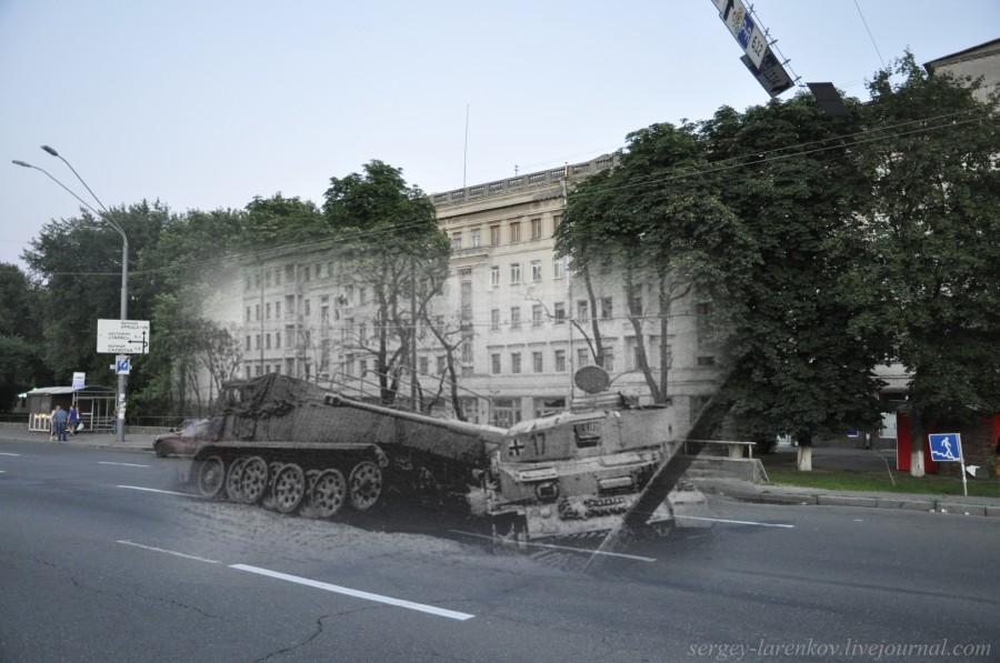 1943/2012 Знищена німецька техніка на Брест-Литовському шосе (проспект Перемоги)