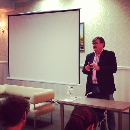 Євген Кисельов, телеведучий, в гостях у Вільної школи журналістики