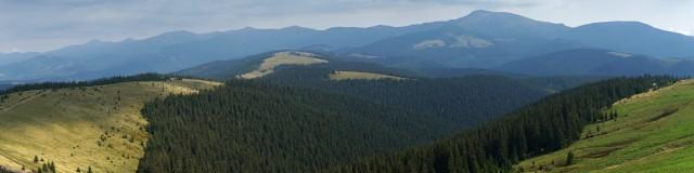 Панорама Чорногори з півдня