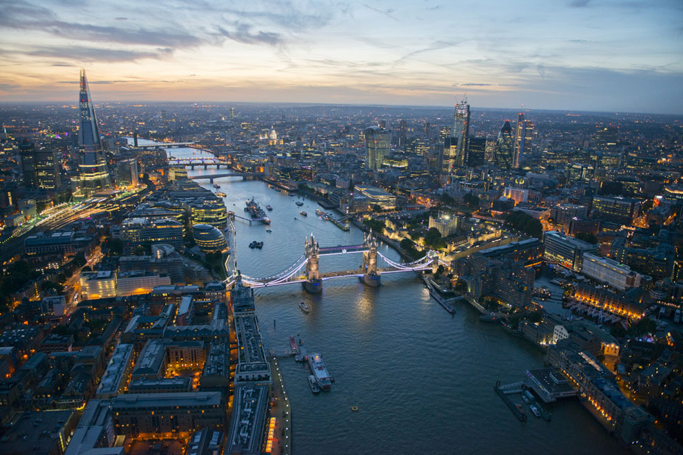 Вечірній Лондон, Темза та Тауерський міст