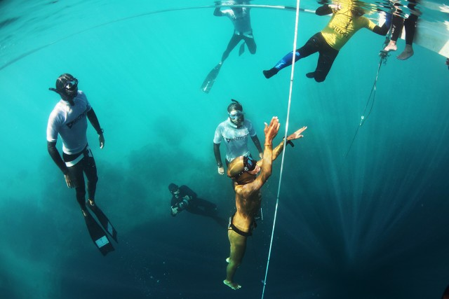 Vertical Blue Freediving event, Day 6 - competition