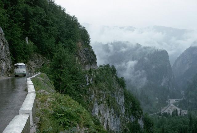 Mountain Road in The Caucasus, Russia